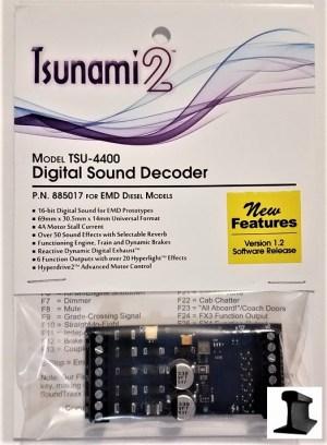 Soundtraxx Tsunami 2 ~ TSU-4400 EMD Diesel DCC Sound Decoder 4 Amp ~ 885017