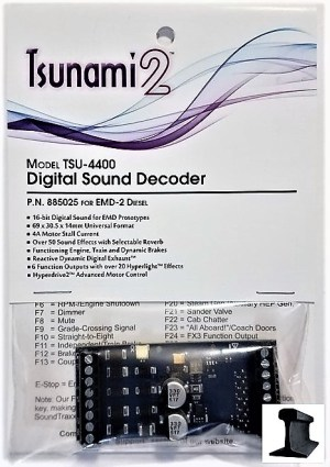 Soundtraxx Tsunami 2 ~ TSU-4400 (EMD-2) DCC Sound Decoder 4 Amp ~ 885025