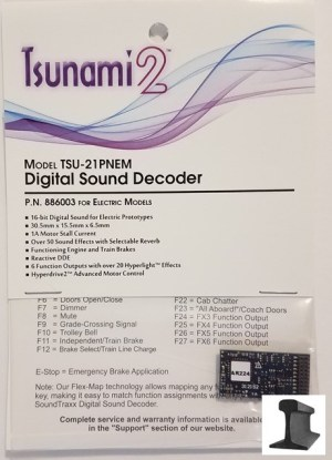 Soundtraxx Tsunami 2 ~ TSU-21 Pin NEM Electric Sound Decoder ~ 886003