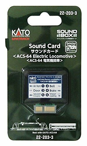 Kato ASC-64 Electric Locomotive Soundcard for Sound Box 22-203-3