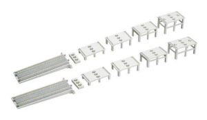 Kato N Scale UniTrack Double Track Viaduct Incline Basic Pier Set (32 pcs) 23-048