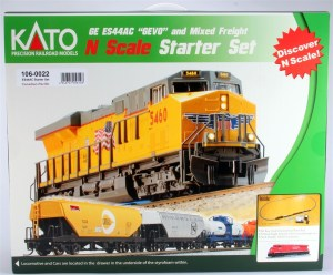 Kato N Scale UniTrack Canadian Pacific Starter Set, GE ES44AC GEVO, 6 Fright Cars & Track 1060022