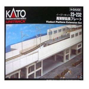 Kato N Scale UniTrack Double Track Viaduct Platform Extension Set (2pcs) 23-232