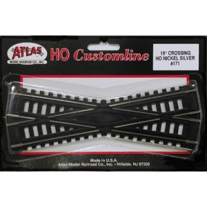 Atlas HO Code 100 Track 19-Degree Custom Line Crossing 171