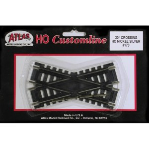 Atlas HO Code 100 Track 30-Degree Custom Line Crossing 173