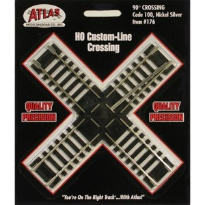 Atlas HO Code 100 Track 90-Degree Custom Line Crossing 176