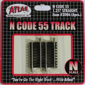 Atlas N Scale Code 55 Track 1.25″ Straight (6 Pieces) 2006