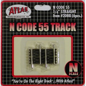 Atlas N Scale Code 55 Track .75″ Straight (6 Pieces) 2008