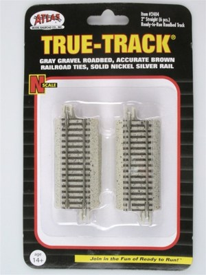 Atlas N Scale Code 65 True-Track 2″ Straight (6 pcs) 2404