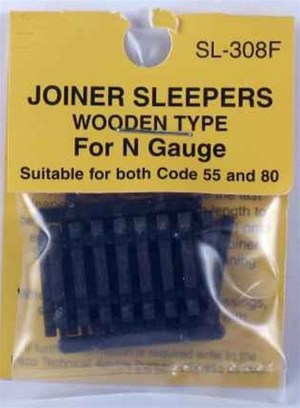 Peco N Scale Code 55 & 80 Wood Joiner Ties (24 pcs) 308F