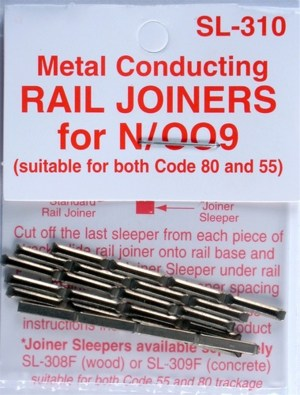Peco N Scale Code 55 & 80 Metal Rail Joiners (24 pcs) 310