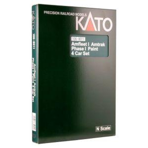 Kato N Scale Amtrak Amfleet Phase I Bookcase (4 pcs) 1068011