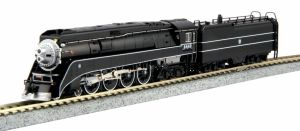 Kato N Scale BNSF Excursion Black 4-8-4 GS4 #4449 ~ 126-0312