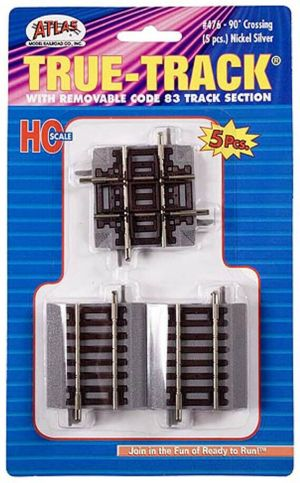 Atlas HO True Track 90 Degree Crossing (5 pcs) 476