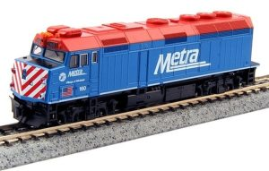 Kato N Scale Metra #160 F40PH Ditch Lights Village of Winfield 76-9102