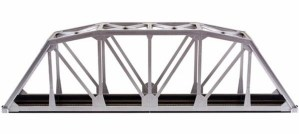 Atlas HO Code 83 Through Truss Bridge Kit Silver (1 pc) 594