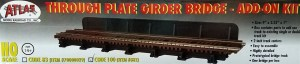 Atlas HO Code 100 Through Plate Girder Bridge Single Track Add On Kit 882