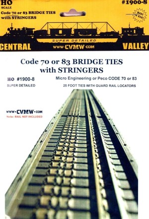 Central Valley Model Works HO Truss Bridge Ties HO Code 83/70 ME or Peco 1900-8