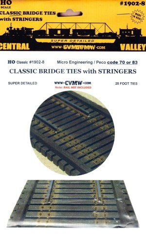 Central Valley Model Works HO 72′ Single Track Plate Girder Bridge Kit 1903