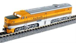 Kato N Scale Denver & Rio Grande Western PA-1 #6013 Aspen Gold 4 Stripe 176-4108