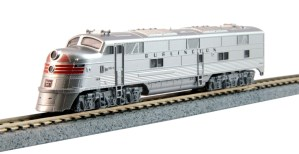 Kato N Scale Chicago Burlington & Quincy E5A CB&Q #9912A Silver Speed 176-5404