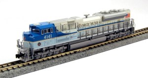 Kato N Scale Union Pacific #4141 SD70ACE UP George Bush ESU LokSound 176-8411LS
