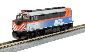 Kato N Scale Chicago Metra #174 F40PH Ditch Lights Fox River Grove TCS DCC 76-9105DCC