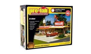 Woodland Scenics HO D's Diner Kit PF5188