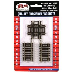 Atlas HO Code 83 90 Degree Crossing Track (1 pc) 577