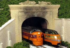 Monroe Models N Scale Tunnel Portal Cut Stone Double Track 211