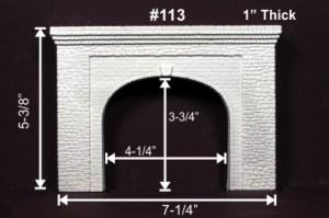 Monroe Models HO Tunnel Portal Random Stone Double Track 113