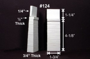 Monroe Models HO Bridge Abutment Board Formed Concrete (2 pcs) 124