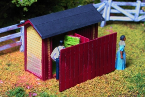 Monroe Models HO The Privies Outhouse Laser Kit (3 pcs) #2213