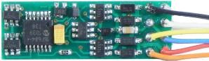 NCE N14SR, narrow generic decoder, 1 Amp, 4 functions