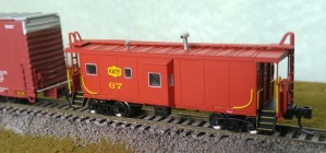 Bluford Shops N Scale MKT Missouri Kansas Texas #63 Bay Caboose 42060