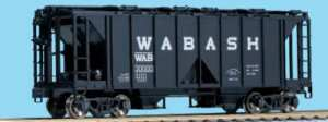 Kato HO Wabash ACF 70-Ton Open Side Hopper (3 Pack) 38-0205