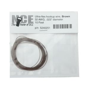 NCE Brown Ultraflex Wire 32AWG 10 Feet 5240251