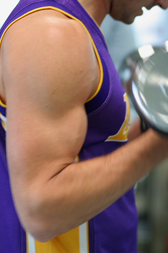 Working the biceps