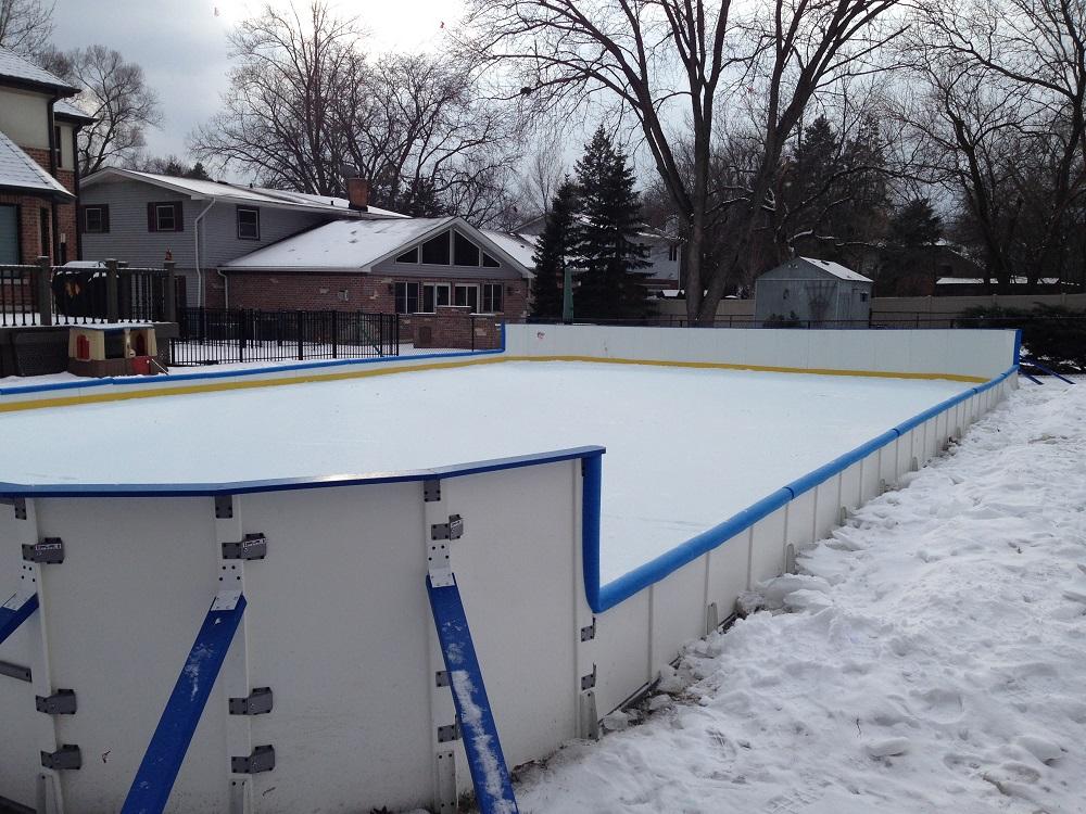poly steel backyard rink