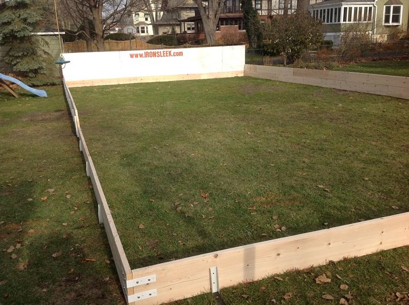 plywood backyard ice rink boards
