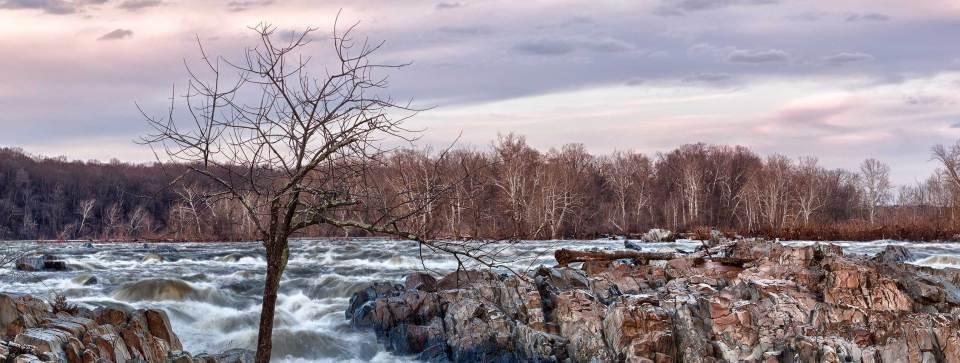 Great Falls Rocks in Autumn