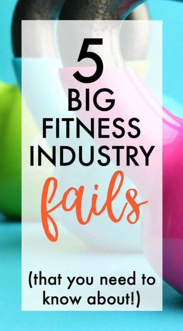 Is the fitness industry failing you? Are your health and weight loss goals realistic? Are you setting up for success? Fitness industry lies