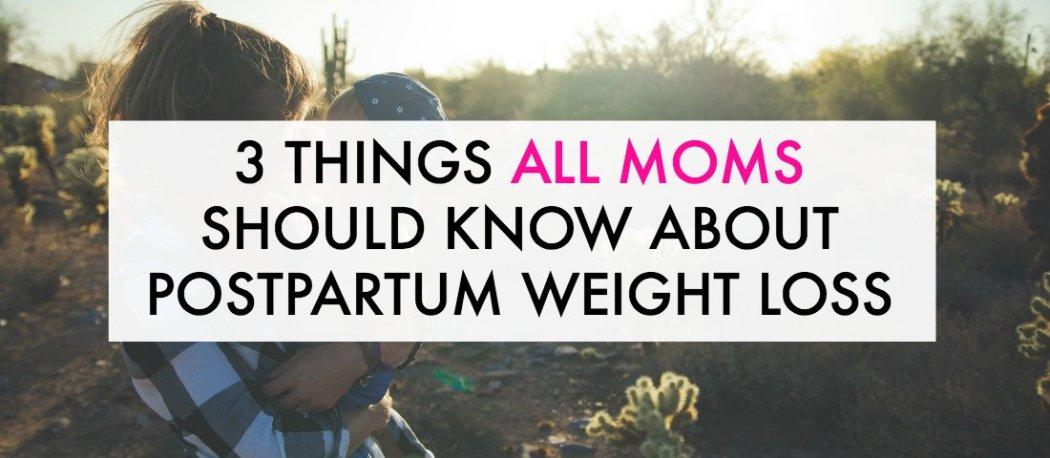 Postpartum weight loss information