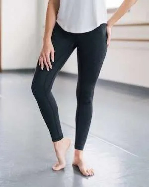 Charcoal High Rise Legging by ZYIA