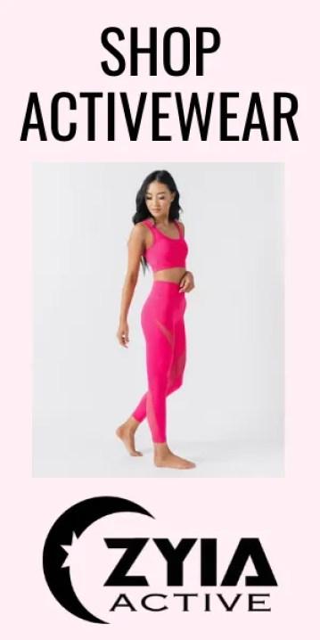 ZYIA hot pink leopard print set