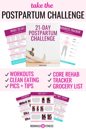 21 day postpartum challenge