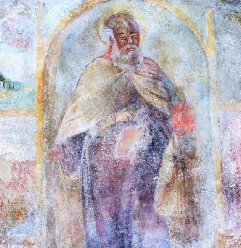 Affresco di Sant'Elia profeta