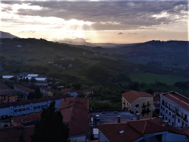 Teora Vista dalla terrazza