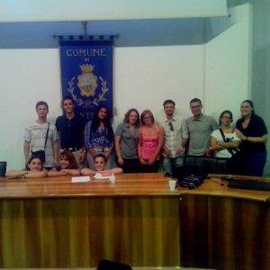 Ragazzi del forum di Montella con il coordinatore regionale Giuseppe Caruso