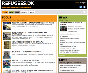 refugees.dk website
